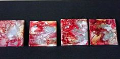 Alcohol ink Ceramic tile art Coasters by by terripoppinscrafts at Etsy