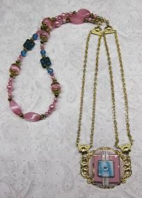 """Pink Art Deco Style"" 2 pc set"