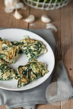Spinach & zucchini ricotta pancakes