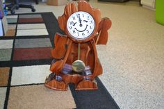 Cedar Girl Clock by HoppsShop on Etsy