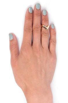 Mid Knuckle Ring in Gold