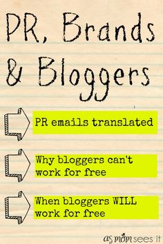 PR, Brands and Bloggers