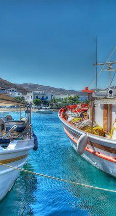 Merihas Harbour, Kythnos, Greece