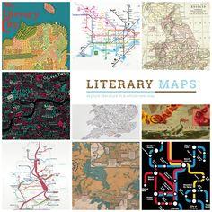 Prepare for adventure: 12 #literary maps to explore