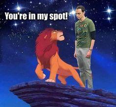That's my spot Simba…