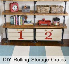 diy rolling storage crate