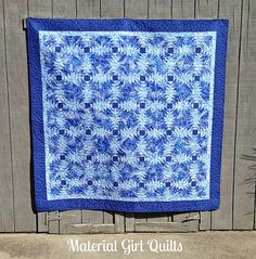 Blue Pineapples quilt by Material Girl Quilts, via Flickr