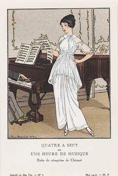 Madeleine Chéruit, reception dress, 1913. Illustration by Pierre Brissaud.