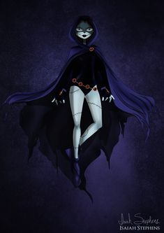 Disney Halloween: Sally Skellington as Raven From Teen Titans