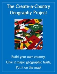 This is the create-a-country project which requires students -- upper elementary, middle, or high school -- to demonstrate fundamental geography skills. I mention it is a scalable assignment. Simply, there are different versions of this two-part assignment here: an upper elementary school assignment, a middle school assignment, and a high school assignment. Of course, you can mix-and-match to fit the needs of your classes.