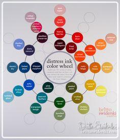distress ink color wheel