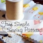 Need some new projects to work on? Here's a great list of free simple sewing projects to try!