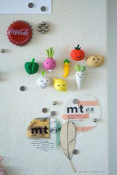 New veggie magnets by {JooJoo}, via Flickr