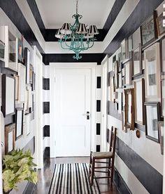 Striped hallway