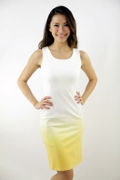 Isadora gradient dress in yellow