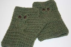 Hooked on Owls Fingerless Mittens
