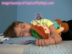Website where you take a picture of your child sleeping, upload it, and pick a Tooth Fairy to stick in your picture. Proof that the Tooth Fairy was at your house!!! The site also has Santa and the Easter Bunny