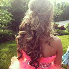 hair colors, prom hairstyles, curl, the dress, wedding hairs, homecoming hair, beauti, hair style, promhair