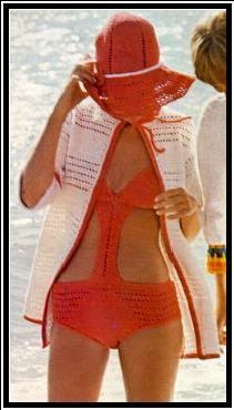 Crochet Bikini - retro pattern