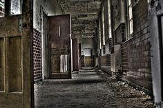 . creepi asylum, abandon hospit, west park, hallway, abandon place, abandon asylum, decay, hospitals, abandon build