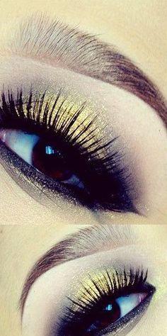 yellow and black eye makeup #vibrant #smokey #bold #eye #makeup #eyes