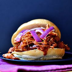 BBQ Chicken Sandwich with Pickled Red Onions