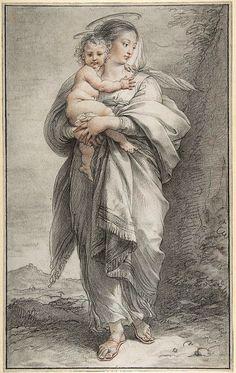 Cades, Giuseppe (1750-1799) - VIRGIN and CHILD (Metropolitan Museum of Art, New York City)