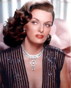 The beautifully talented Jane Russell was born today 6-21 in 1921. The Outlaw and a bra Howard Hughes had custom made for her to wear in it made her a star! Gentlemen Prefer Blondes, The Paleface, Road to Bali are a few of her famous films. She retired from films and lived many a year until 2011 when she passed away in Santa Maria, Cali -