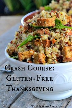 Crash Course: Gluten-Free Thanksgiving - Gluten Free Recipes - The Healthy Apple #gluten #recipe #glutenfree #recipes