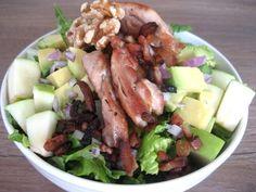 Bacon, chicken & avocado salad