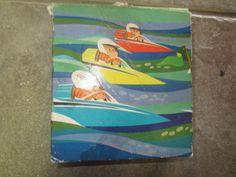 Avon Tub Racers (Speedboats) Soap set of 3 - 1970's kitschy