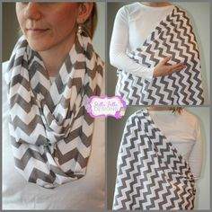 Infinity scarf that doubles as a nursing cover....