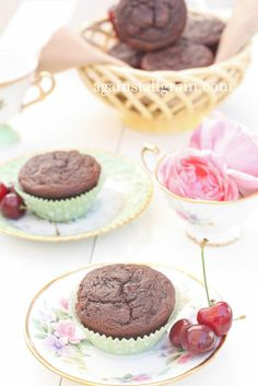 Paleo Chocolate Cherry Muffins - Against All Grain