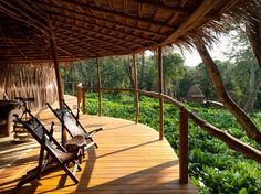 The year-old Ngaga camp, one of two new properties ­in Odzala-Kokoua National Park, in the heart of the Republic of Congo.