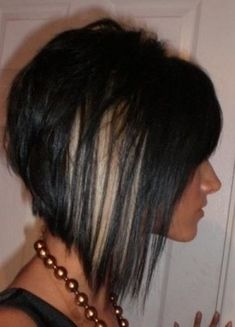 black & blond bob hairstyle - hmm may have to go short again!