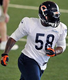 LB -  DJ Williams to replace the future hall-of-famer Brian Urlacher. The Bears other option for middleLB was rookie Jon Bostic, who is a second-round draft pick from Florida.