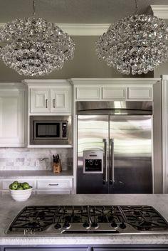 A Glamorous Makeover: Paloma Contreras Design  #kitchen #lighting