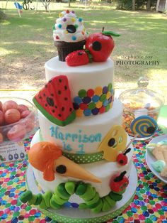 Very Hungry Caterpillar Cake - #projectnursery