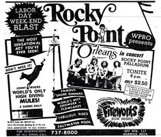 1975 Rocky Point Newspaper Ad  ~This amusement park was up there with the best of my childhood memories #soRIhistory, #soRI