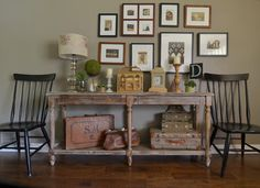 table displays, vintage suitcases, living rooms, country design, sarah greenman