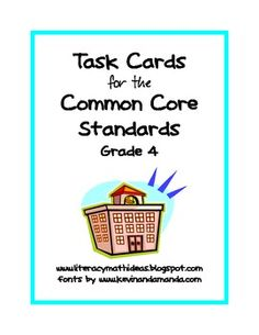 Common Core Task Cards:  Grade 4