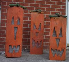 Primitive Wood Pumpkin Patterns | primitive crafts / Lighted Jack o lantern Pumpkin Wood Craft Pattern ...