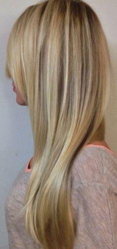 Blonde hair with platinum highlights