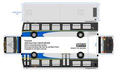 New flyer Translink  paper bus model by R. Flores. DIY paper craft