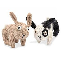 Easy to knit and fun to play with, these bunny toys will make for a delightful gift for the kids or just as cute companions for yourself.