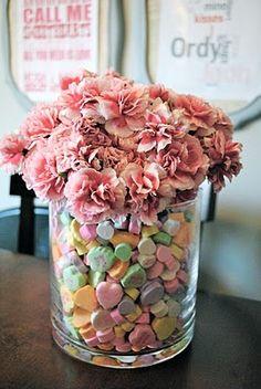 valentines day vase
