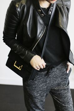 charcoal & black leather | parkandcube