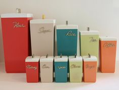 Vintage/Retro 60s Kitchen Canisters...colors for the party