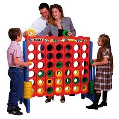 Giant Connect Four Style Classic Family Game Room 4-in-Line Kids Toy *FREE S!* I NEED THIS FOR THE BACKYARD!!!!!!