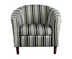 Carey Black and White Striped Tub Chair - UK delivery tub chair, stripe tub